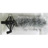 索尼678話筒用減震架和毛衣/毛防風罩/毛毛罩/懸掛架防風罩