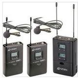 AZDEN 320ULT/摄像机用一托二无线采访话筒/采访麦克风/240个频点