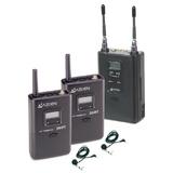 特价 日本AZDEN阿兹丹 330LT摄像机用一拖二无线话筒 全新正品行货