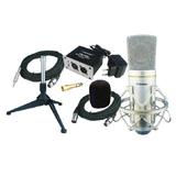 奥创 SP530 录音话筒套装,MC310电容话筒+幻象电源