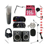 录音套装 录音棚专用 JZW MC-965专业录音话筒 膜片话筒