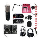 录音套装 录音棚专用 音乐工作室 专业录音话筒 监听音箱 耳机