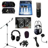录音套装 录音棚专用 音乐工作室 专业录音话筒 声卡 监听耳机