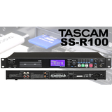 TASCAM SS-R100 CF SD USB 会议室机架式固态录放机 录音机