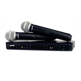 Shure/舒尔 BLX288/PG58 无线话筒一拖二 KTV麦克风 无线会议话筒