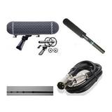 挑杆套装 TAN-90A录音话筒+RODE笼防风三件套+3.5米碳素挑杆
