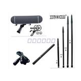 挑杆套装JZW TAN-90A录音话筒+RODE笼防风三件套+3.5米碳素挑杆