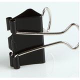 齐心 B3605黑色长尾票夹 长尾夹 1# 51mm 12只/盒